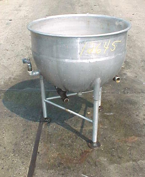 50 GALLON ALUMINUM KETTLE